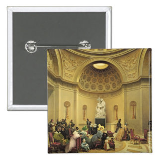 Mass in the Expiatory Chapel, 1830-48 15 Cm Square Badge