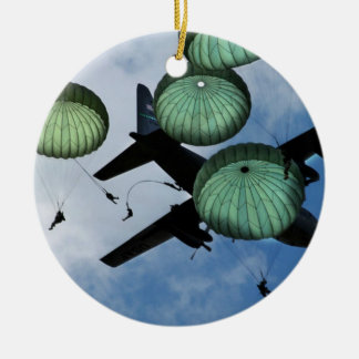 Mass Jump Mission, Parachutes, U.S. Army Christmas Ornament