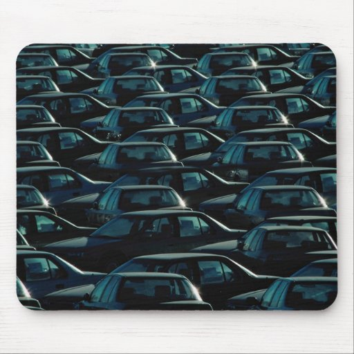 Mass of imported cars in storage depot, Toronto, O Mousepads