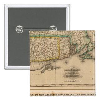 Mass, Rhode Island, Connecticut 15 Cm Square Badge