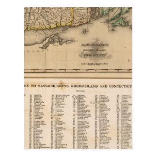 Mass, Rhode Island, Connecticut Postcard