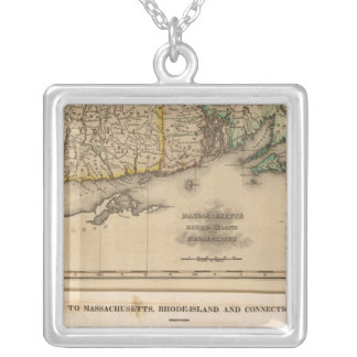 Mass, Rhode Island, Connecticut Silver Plated Necklace