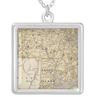 Mass, Rhode Island Silver Plated Necklace