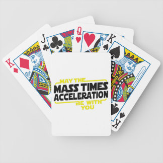 Mass Times Acceleration Bicycle Poker Deck