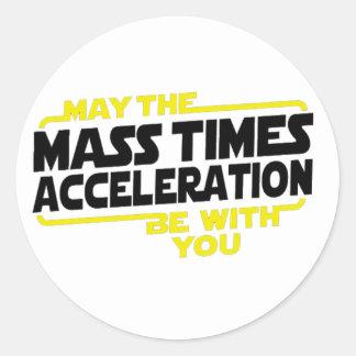 Mass Times Acceleration Round Sticker