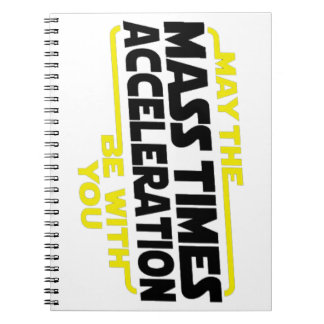Mass Times Acceleration Spiral Note Book