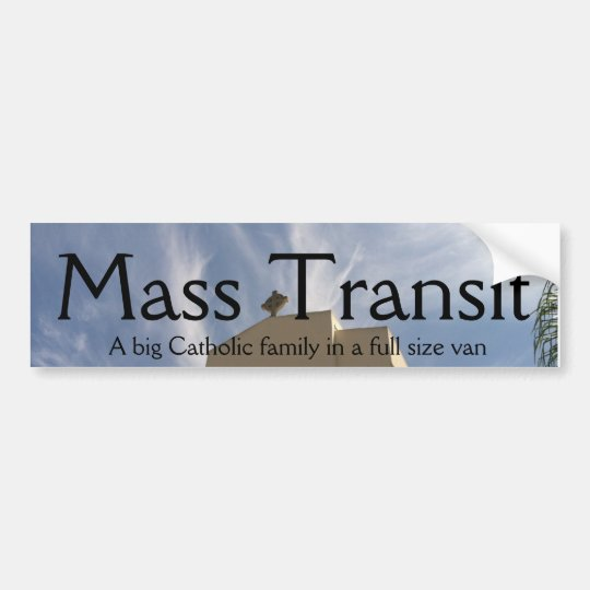 Mass Transit Bumper Sticker