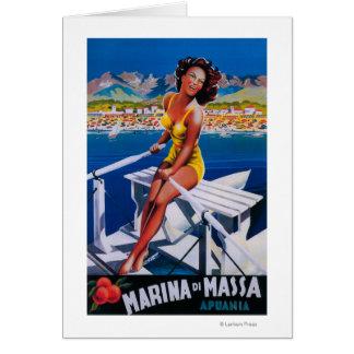 Massa Marina Travel Poster Card