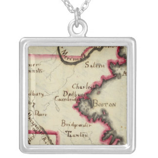 Massachusetts 2 silver plated necklace