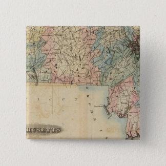 Massachusetts 3 15 cm square badge
