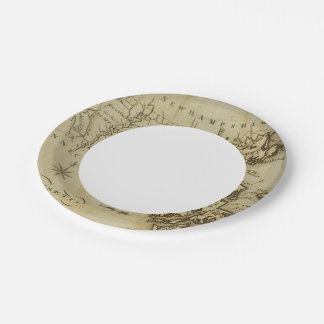 Massachusetts 3 7 inch paper plate