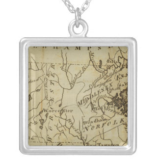 Massachusetts 3 silver plated necklace