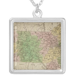 Massachusetts 4 silver plated necklace