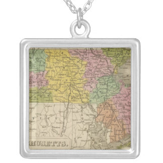 Massachusetts 7 silver plated necklace