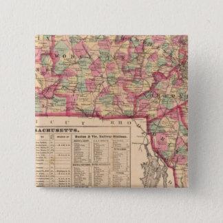 Massachusetts 8 15 cm square badge