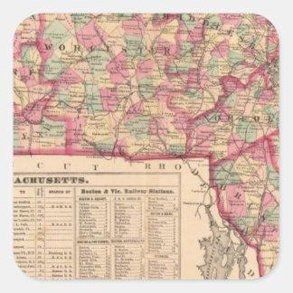 Massachusetts 8 square sticker