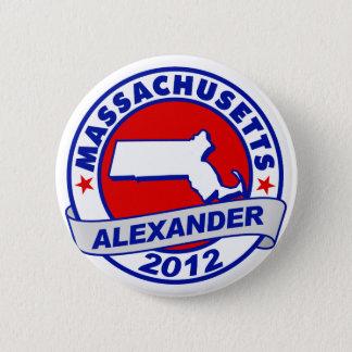 Massachusetts Alexander 6 Cm Round Badge