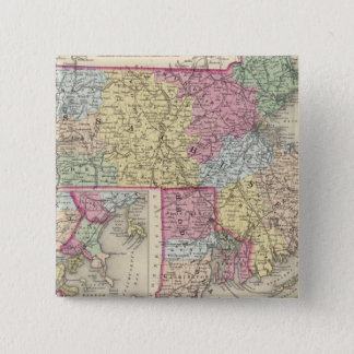 Massachusetts And Rhode Island 2 15 Cm Square Badge
