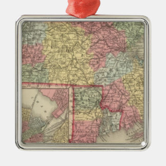 Massachusetts and Rhode Island 2 Christmas Ornament