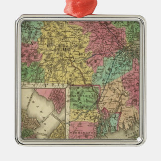 Massachusetts And Rhode Island Christmas Ornament