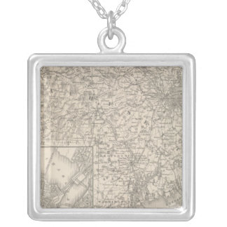Massachusetts and Rhode Island Silver Plated Necklace