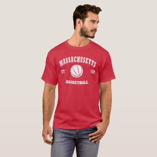 Massachusetts Basketball Retro Logo T-Shirt