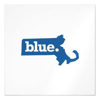 MASSACHUSETTS BLUE STATE MAGNETIC INVITATIONS
