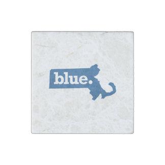 MASSACHUSETTS BLUE STATE STONE MAGNET