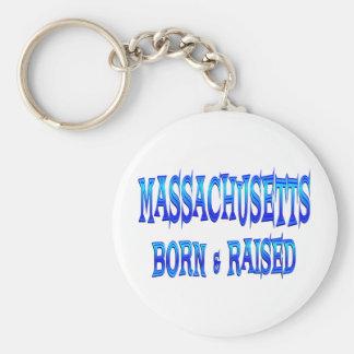 Massachusetts Born & Raised Key Ring