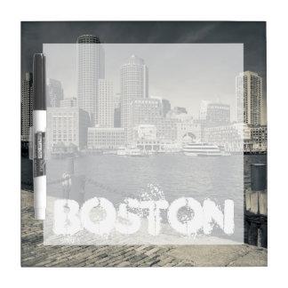 Massachusetts, Boston, Rowe's Wharf buildings Dry Erase Board