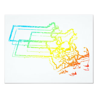 massachusetts chill blur 11 cm x 14 cm invitation card