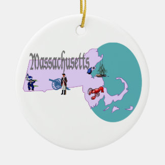 Massachusetts Christmas Tree Ornament