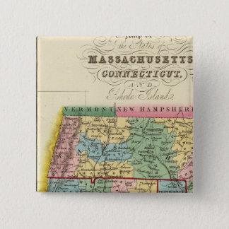 Massachusetts, Connecticut, Rhode Island 15 Cm Square Badge