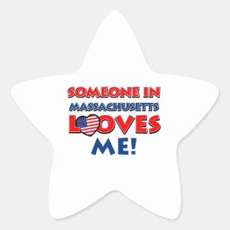 MASSACHUSETTS designs Star Sticker