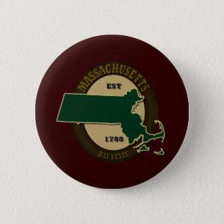 Massachusetts Est 1788 6 Cm Round Badge