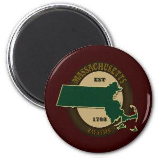 Massachusetts Est 1788 Magnet