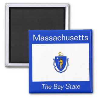 Massachusetts Flag Magnet