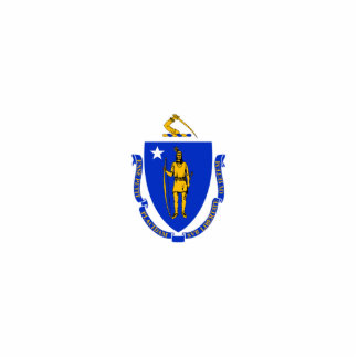 Massachusetts Flag Magnet Cut Out