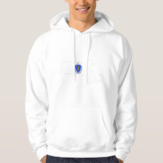 Massachusetts Flag Map Hoodie