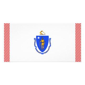 Massachusetts Flag Photo Card