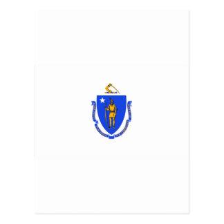 Massachusetts Flag Postcard