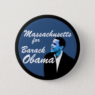 Massachusetts for Barack Obama 6 Cm Round Badge