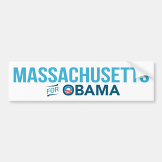 Massachusetts For Barack Obama Biden Bumper Bumper Sticker
