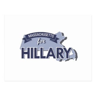 MASSACHUSETTS FOR HILLARY -.png Postcard