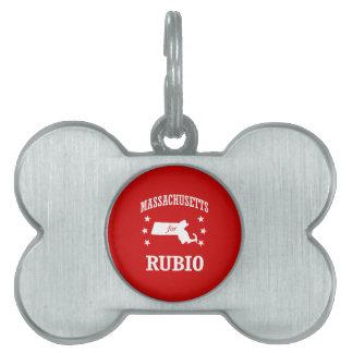 MASSACHUSETTS FOR RUBIO PET NAME TAG