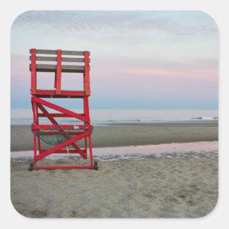 Massachusetts, Gloucester, Good Harbor Beach Square Sticker