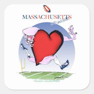 massachusetts head heart, tony fernandes square sticker