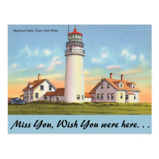 Massachusetts, Highland Light, Cape Cod Postcard