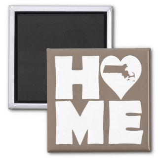 Massachusetts Home Heart State Fridge Magnet
