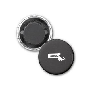 Massachusetts Home 3 Cm Round Magnet